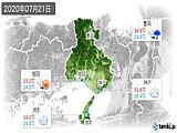 2020年07月21日の兵庫県の実況天気