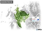 2020年07月21日の佐賀県の実況天気