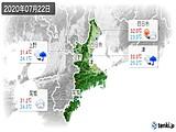 2020年07月22日の三重県の実況天気