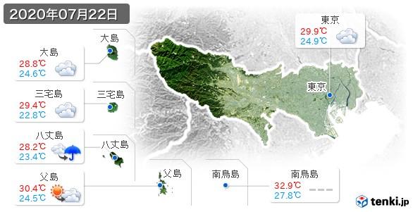東京都(2020年07月22日の天気