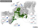2020年07月23日の東海地方の実況天気