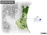 2020年07月23日の茨城県の実況天気