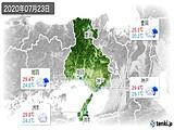 2020年07月23日の兵庫県の実況天気