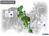 2020年07月24日の京都府の実況天気