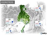 2020年07月25日の兵庫県の実況天気