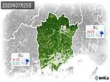 2020年07月25日の岡山県の実況天気
