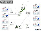 2020年07月25日の沖縄県の実況天気