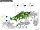 2020年07月26日の中国地方の実況天気