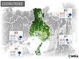 2020年07月26日の兵庫県の実況天気