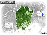 2020年07月26日の岡山県の実況天気