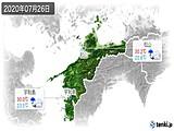 2020年07月26日の愛媛県の実況天気