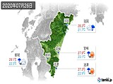 2020年07月26日の宮崎県の実況天気