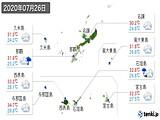 2020年07月26日の沖縄県の実況天気
