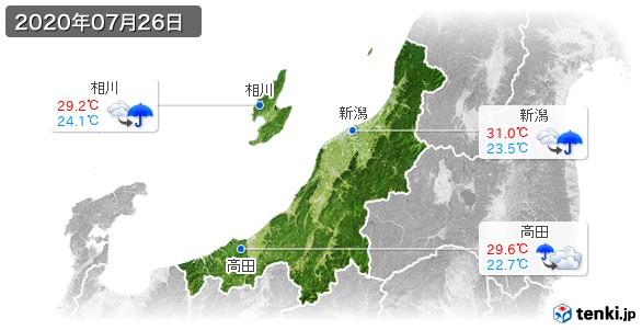 新潟県(2020年07月26日の天気