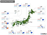 実況天気(2020年07月26日)