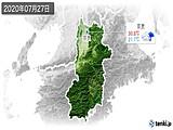 2020年07月27日の奈良県の実況天気