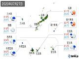 2020年07月27日の沖縄県の実況天気