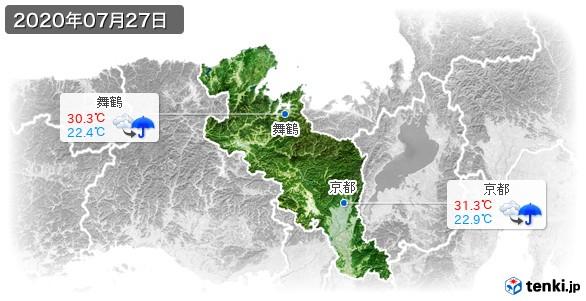 京都府(2020年07月27日の天気