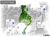 2020年07月28日の兵庫県の実況天気