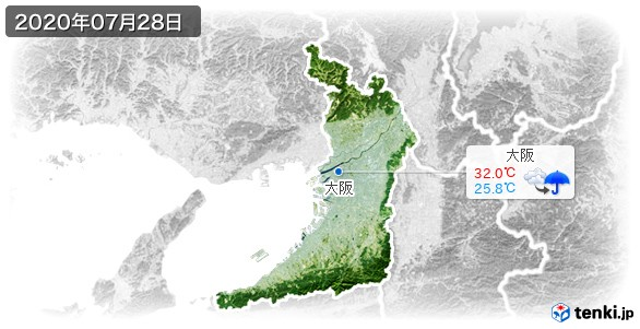 大阪府(2020年07月28日の天気