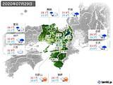 2020年07月29日の近畿地方の実況天気