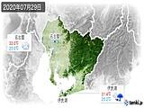 2020年07月29日の愛知県の実況天気