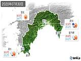 2020年07月30日の高知県の実況天気