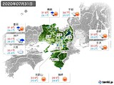 2020年07月31日の近畿地方の実況天気