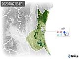 2020年07月31日の茨城県の実況天気