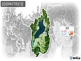 2020年07月31日の滋賀県の実況天気