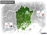 2020年07月31日の岡山県の実況天気