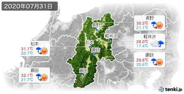 長野県(2020年07月31日の天気