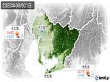2020年08月01日の愛知県の実況天気