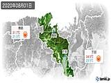 2020年08月01日の京都府の実況天気