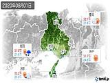 2020年08月01日の兵庫県の実況天気