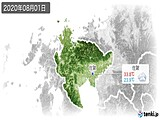 2020年08月01日の佐賀県の実況天気