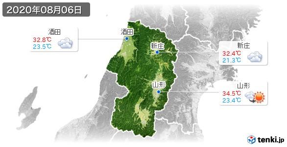 山形県(2020年08月06日の天気