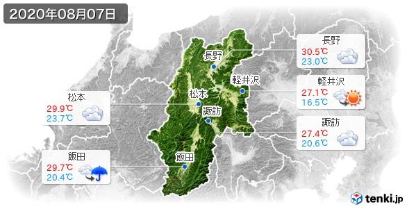 長野県(2020年08月07日の天気