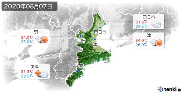 三重県(2020年08月07日の天気