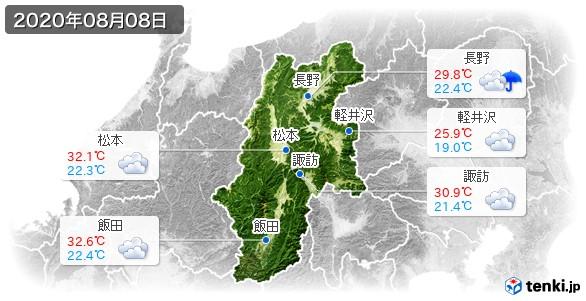 長野県(2020年08月08日の天気