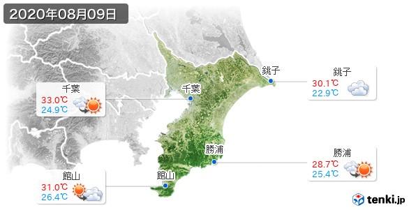 千葉県(2020年08月09日の天気