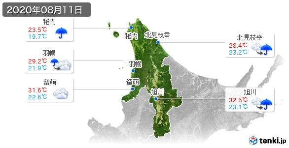道北(2020年08月11日の天気