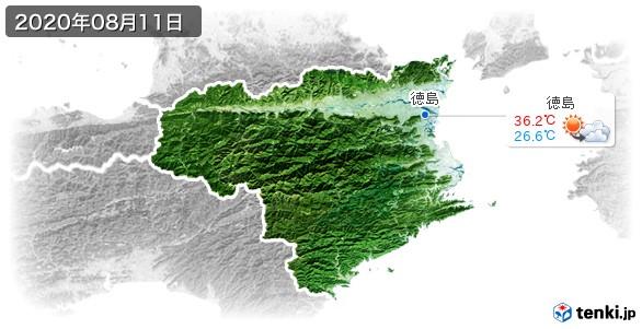 徳島県(2020年08月11日の天気