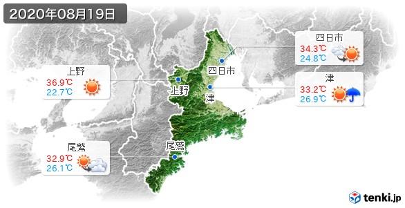 三重県(2020年08月19日の天気