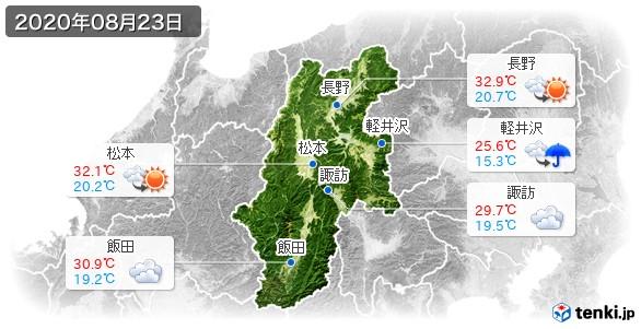 長野県(2020年08月23日の天気