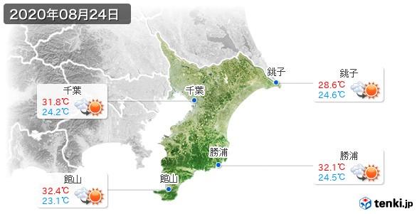 千葉県(2020年08月24日の天気