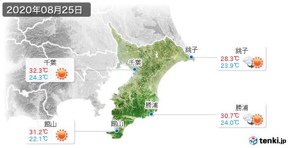 千葉県(2020年08月25日の天気