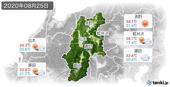 長野県(2020年08月25日の天気