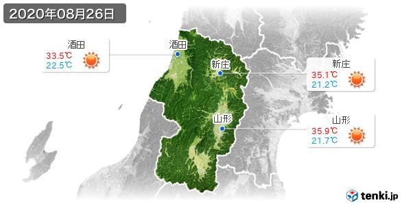 山形県(2020年08月26日の天気