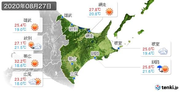道東(2020年08月27日の天気